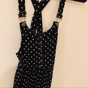 Xhilaration Dresses - Overalls polka dot romper!
